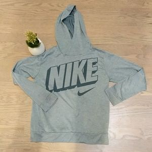 Nike hooded dry fit shirt